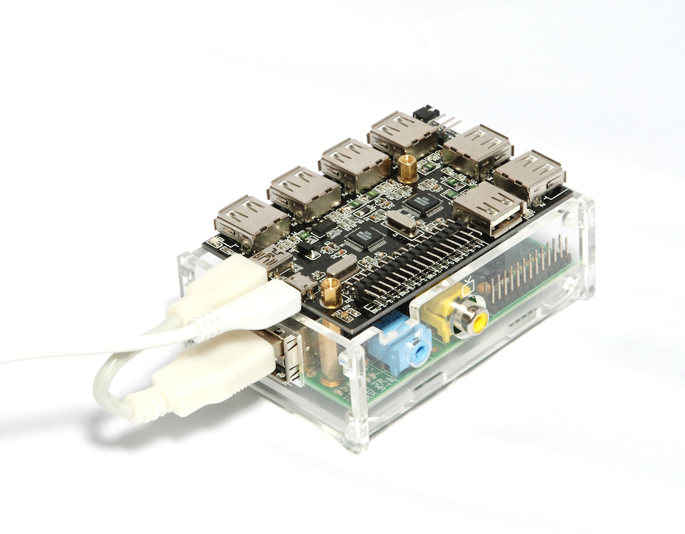 Power UUGear USB hub with external adapter, backfeed to Raspberry Pi