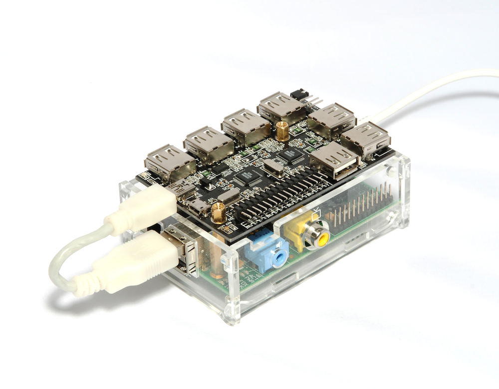 Power UUGear USB hub with USB bus on Raspberry Pi