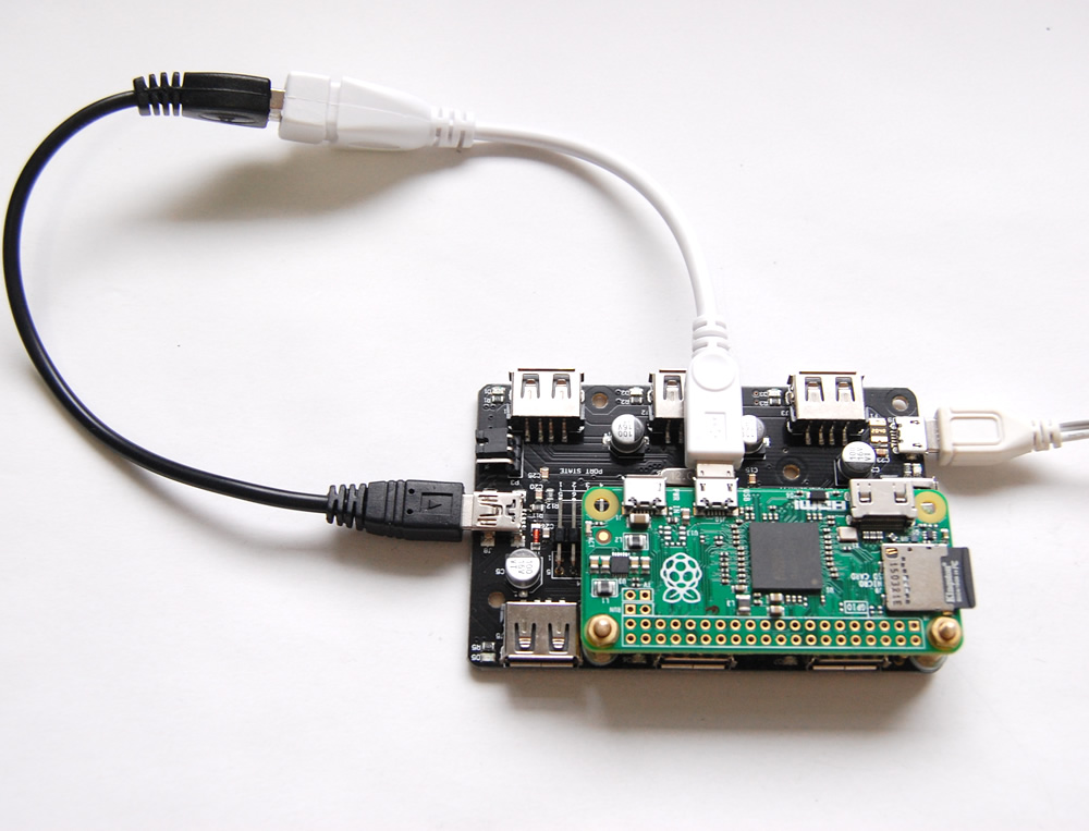 7-Port USB Hub for Raspberry Pi