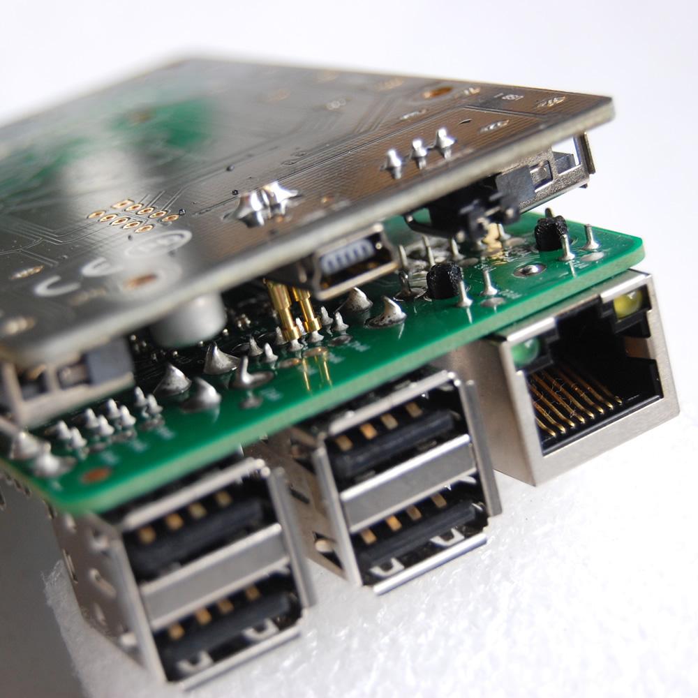 BIG7: 7-Port MTT USB Hub for Raspberry Pi (Rev 2)