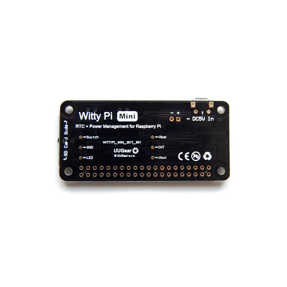 Witty Pi Mini: RTC + Power Management for Raspberry Pi