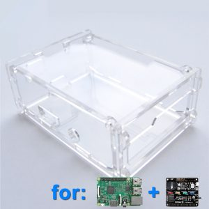 Acrylic Case for Witty Pi (1 or 2) and Raspberry Pi (Clear)