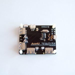 Ace4U: Cable-Free 4-Port USB Hub for Raspberry Pi A+ / 3A+