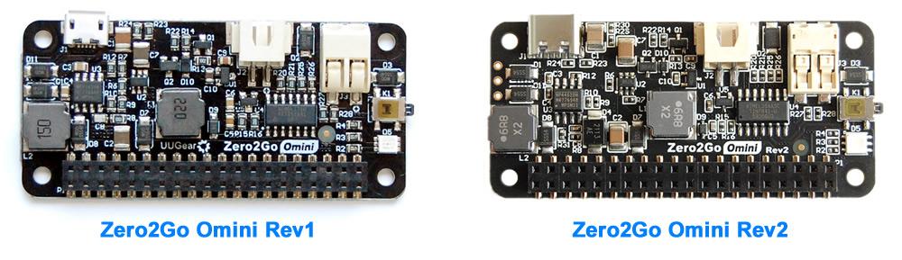 Zero2Go Omini Rev1 and Rev2